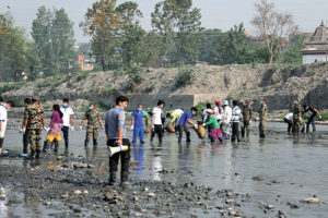 58 metric tonnes of garbage collected from Kathmandu rivers